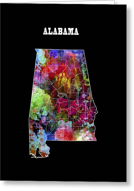 Alabama Football Greeting Cards - Alabama State Greeting Card by Daniel Hagerman