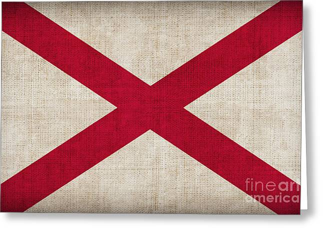 Alabama Greeting Cards - Alabama State flag Greeting Card by Pixel Chimp