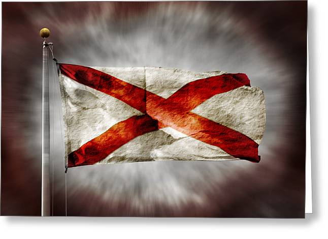 Alabama State Flag Greeting Card by Steven  Michael