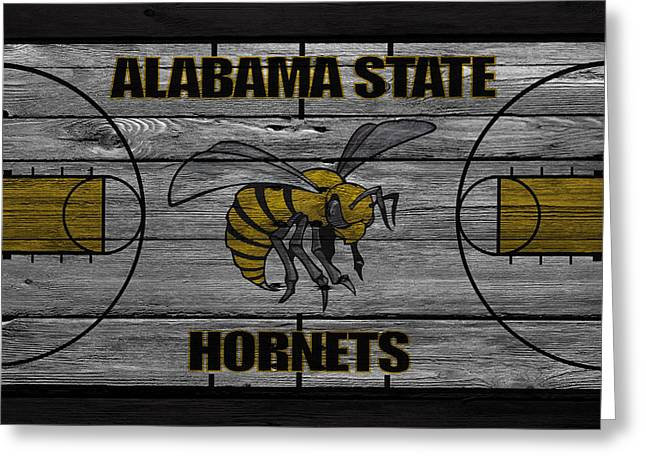 Alabama State Hornets Greeting Card by Joe Hamilton