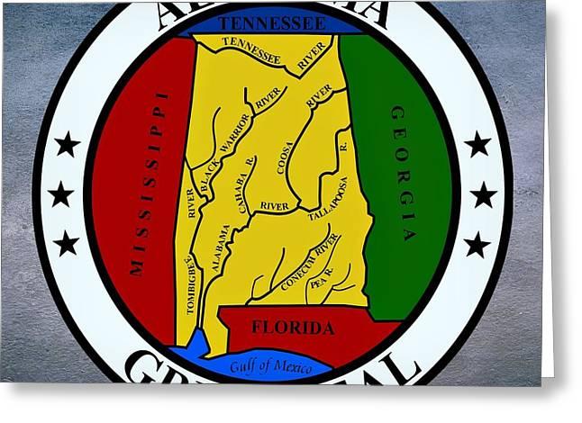 Alabama Greeting Cards - Alabama State Seal Greeting Card by Movie Poster Prints