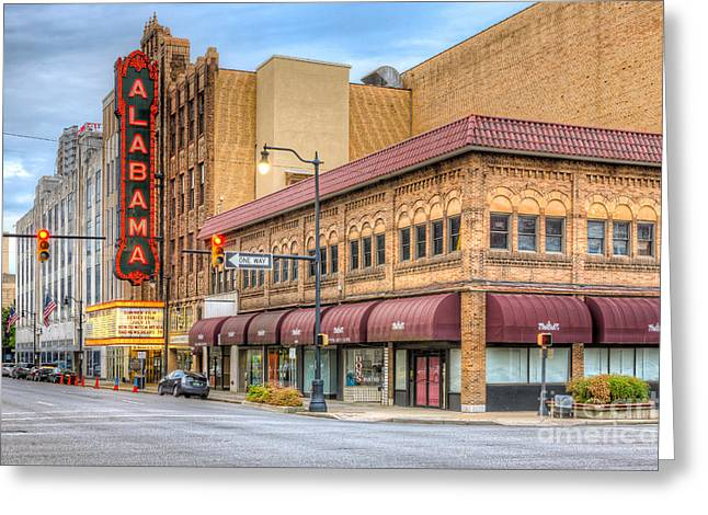 National Commercial Greeting Cards - Alabama Theatre I Greeting Card by Clarence Holmes