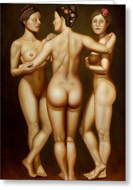 Nude Greeting Cards - Aladdin lamp Greeting Card by Alessandra Veccia