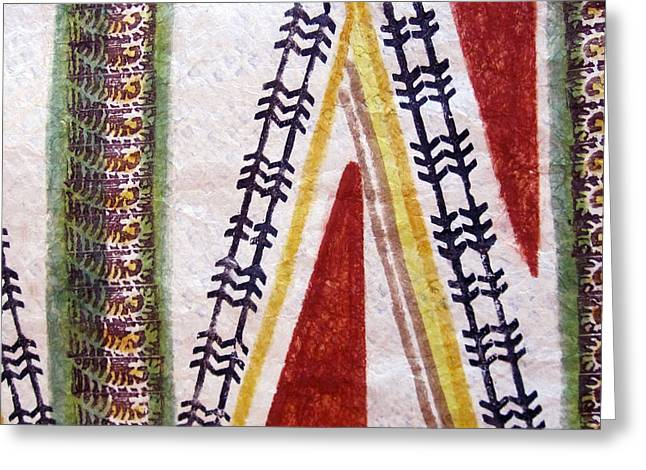 Thread Tapestries - Textiles Greeting Cards - Alae Kapa Greeting Card by Dalani Tanahy