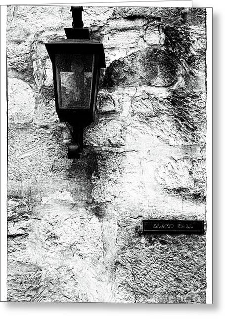 Historic Site Greeting Cards - Alamo Hall Greeting Card by John Rizzuto
