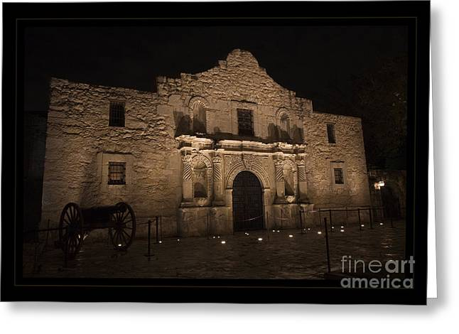 Sidewalks. Arches Greeting Cards - Alamo Mission in San Antonio Greeting Card by John Stephens