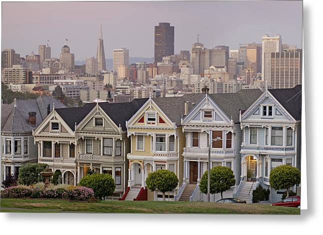 Alamo Square Greeting Cards - Alamo Square Greeting Card by Christian Heeb