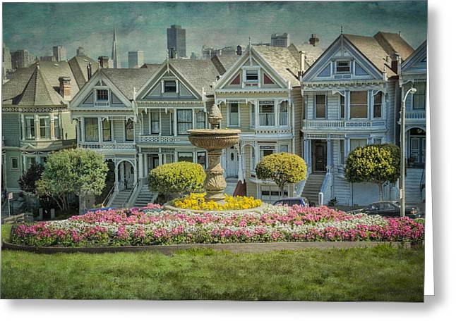 Touristic Greeting Cards - Alamo Square Greeting Card by Erik Brede