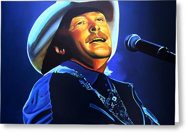 Entertainer Greeting Cards - Alan Jackson Greeting Card by Paul  Meijering