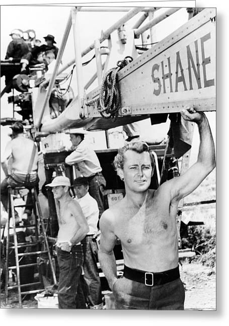 Hunk Greeting Cards - Alan Ladd in Shane  Greeting Card by Silver Screen