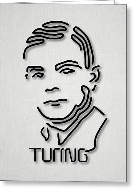 Alan Turing Greeting Card by Ramon Andrade 3dciencia