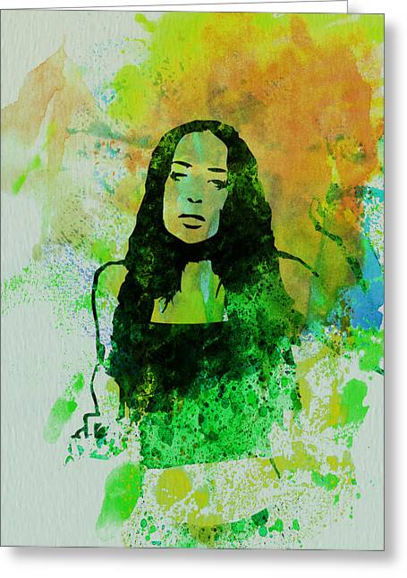 Canadian Paintings Greeting Cards - Alanis Morissette Greeting Card by Naxart Studio