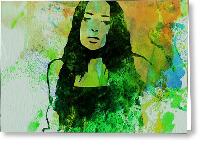 Alanis Morissette Greeting Card by Naxart Studio