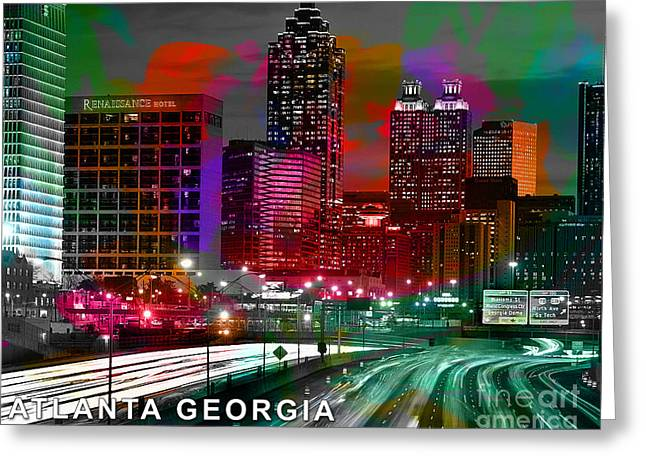 Alanta Georgia Skyline  Greeting Card by Marvin Blaine