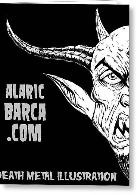 Levi Drawings Greeting Cards - Alaricbarca.com Greeting Card by Alaric Barca