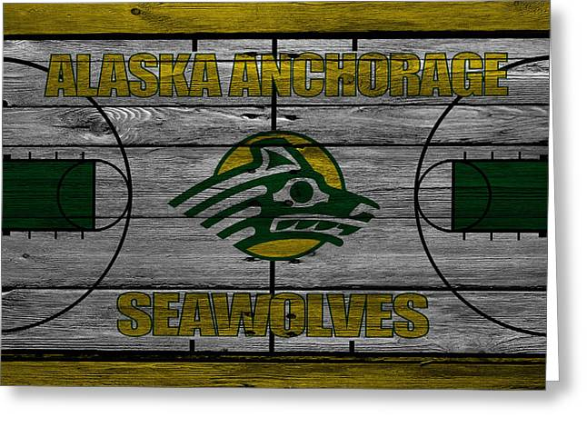 Dunk Greeting Cards - Alaska Anchorage Seawolves Greeting Card by Joe Hamilton