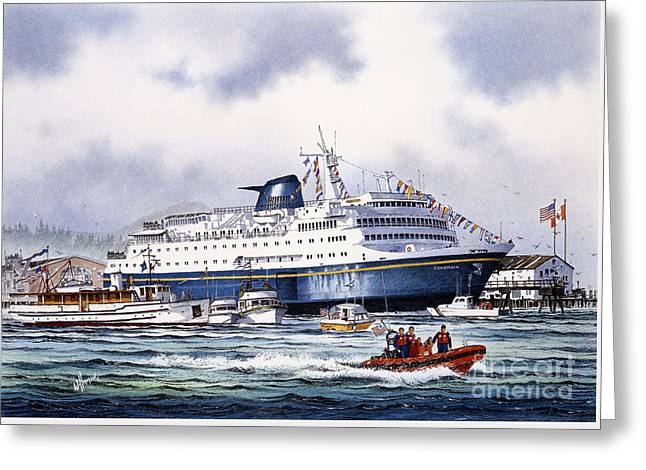 Alaska Greeting Cards Greeting Cards - Alaska Ferry Greeting Card by James Williamson
