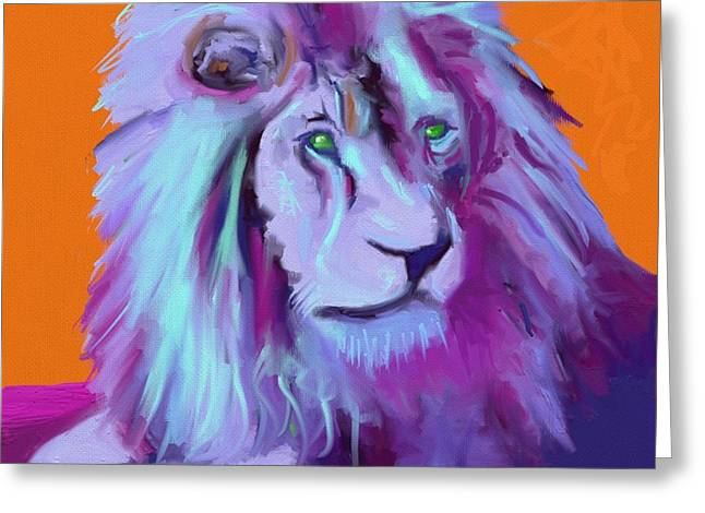King Of Judah Greeting Cards - Alaska Lion Greeting Card by Nancy Capra