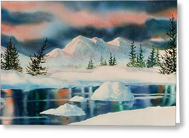 Sienna Greeting Cards - Alaska Panorama Greeting Card by Teresa Ascone