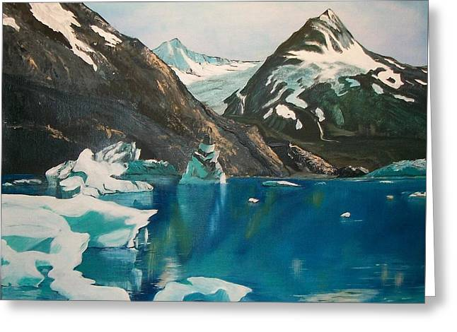 Alaska Reflections Greeting Card by Sharon Duguay