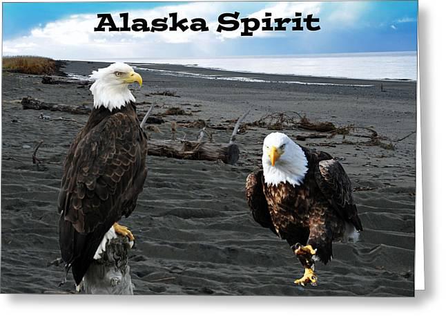 Eagle Images Greeting Cards - Alaska Spirit  Greeting Card by Debra  Miller