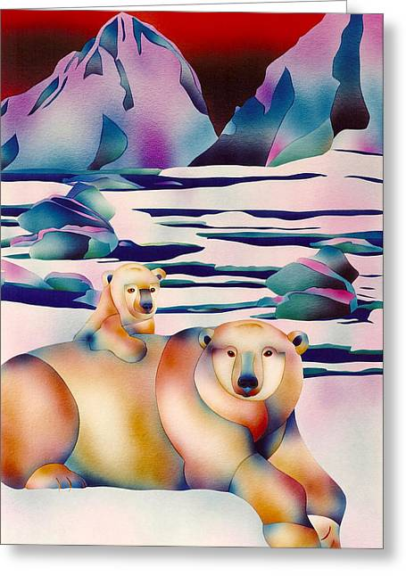 Acrylic Prints Greeting Cards - Alaska Spirit Greeting Card by Julianne  Ososke