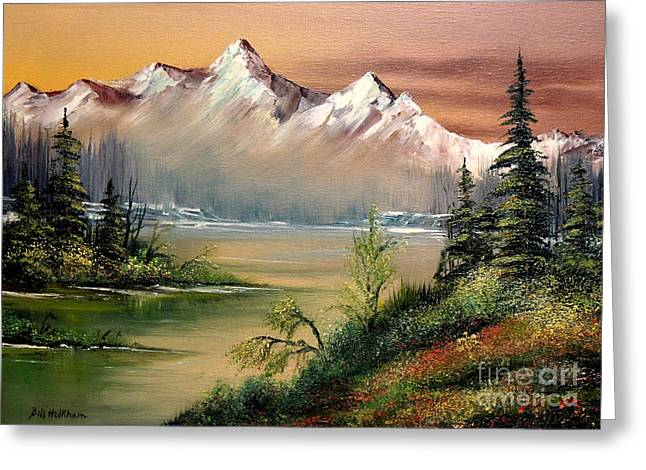 Lanscape Greeting Cards - Alaska - Springtime Greeting Card by Bill Holkham