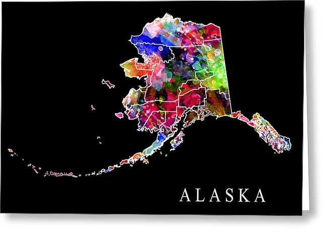 Deadliest Catch Greeting Cards - Alaska State Greeting Card by Daniel Hagerman