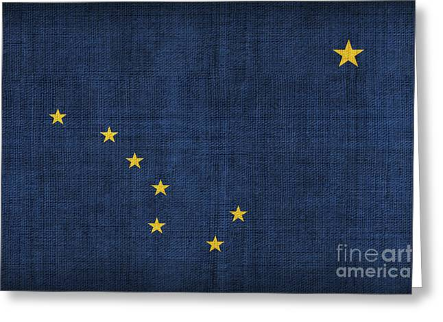 Alaska state flag Greeting Card by Pixel Chimp