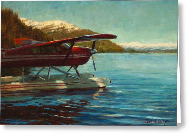 Cessna Greeting Cards - Alaskan Adventure Greeting Card by Jeanne Young