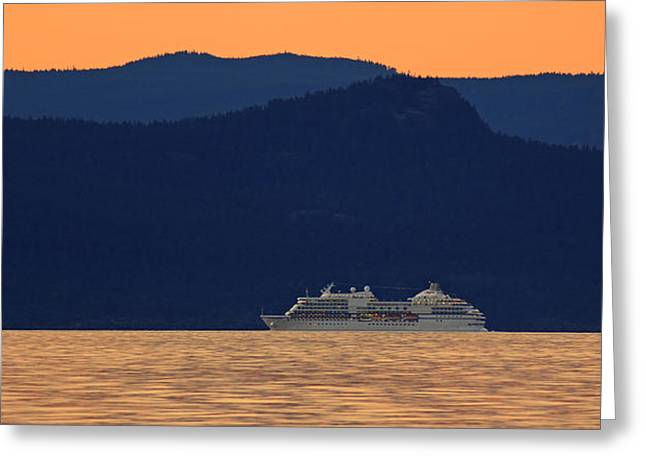 Cruise Travel Greeting Cards - Alaskan Cruise Greeting Card by Randy Hall