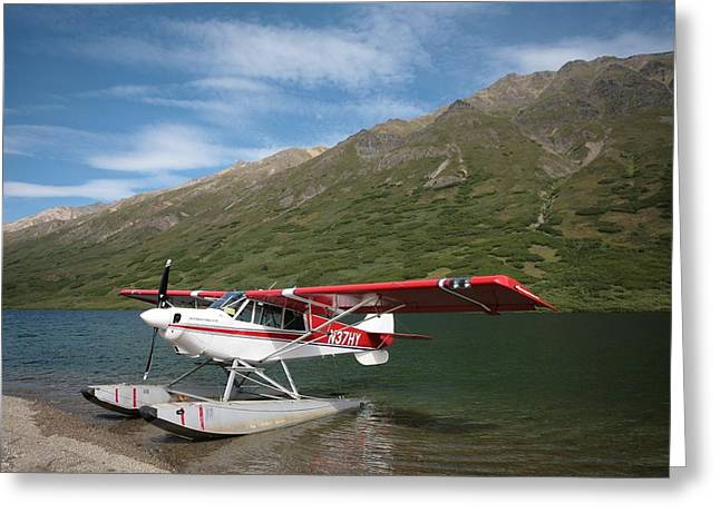 Rep Greeting Cards - Alaskan Float Plane Greeting Card by National Park Service
