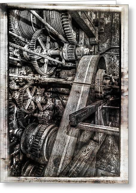 Fortyniner Greeting Cards - Alaskan Gold-dredge Bucket Gear Train Greeting Card by Daniel Hagerman