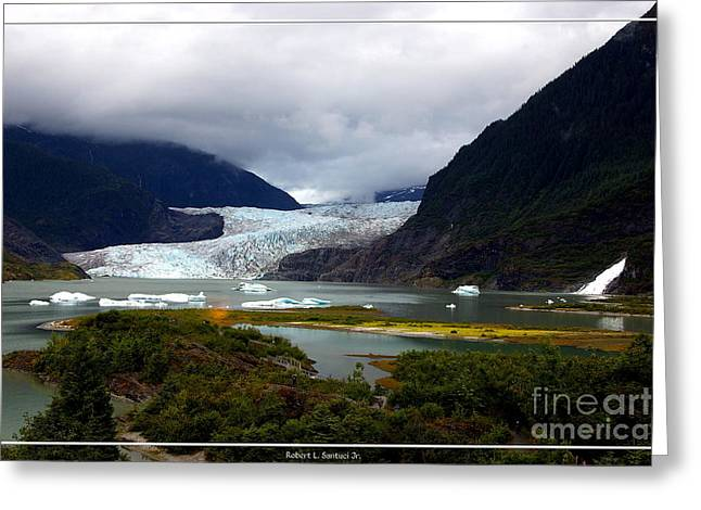 Juneau Park Greeting Cards - Alaskan Mendenhall Glacier 3 Greeting Card by Robert Santuci