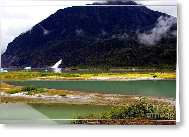 Juneau Park Greeting Cards - Alaskan Mendenhall Glacier 4 Greeting Card by Robert Santuci