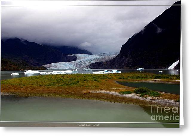 Juneau Park Greeting Cards - Alaskan Mendenhall Glacier Greeting Card by Robert Santuci
