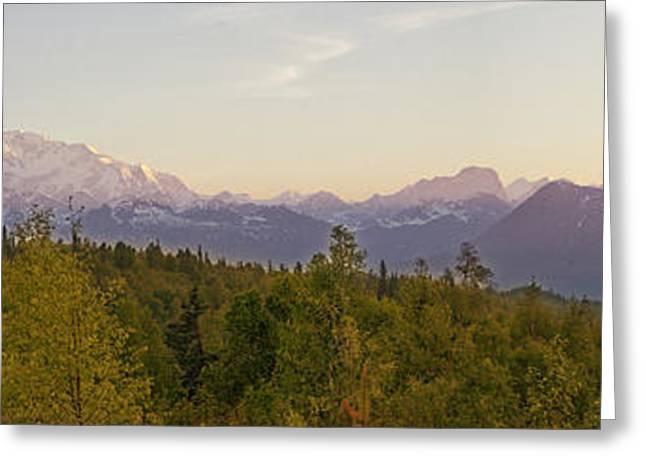 Alaskan Panorama Greeting Card by Vicki Jauron