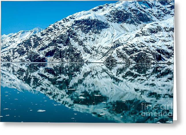 Nature Greeting Cards - Alaskan Reflections Abstract Greeting Card by Debra Martz