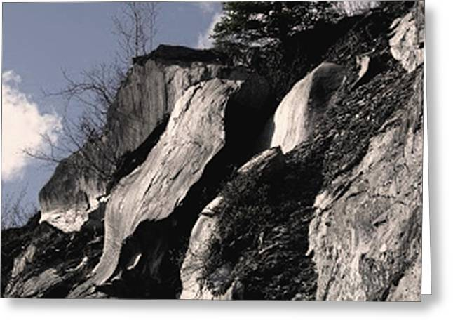 Ledge Mixed Media Greeting Cards - Alaskan Rocky Ledges Greeting Card by Diane Strain