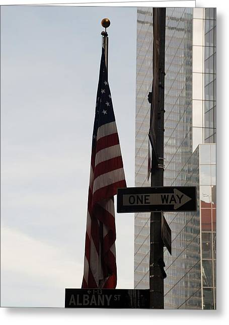 Wtc 11 Greeting Cards - Albany Street Greeting Card by Rob Hans