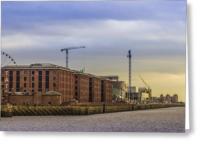 Merseyside Greeting Cards - Albert Dock from the River Mersey Greeting Card by Paul Madden
