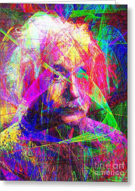 Albert Einstein 20130615 Greeting Card by Wingsdomain Art and Photography