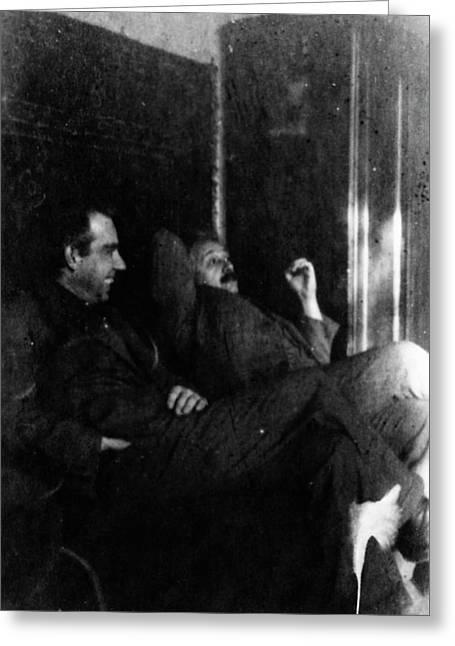 Albert Einstein Greeting Card by American Philosophical Society