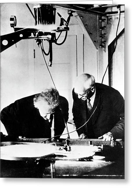 Albert Einstein And Charles St. John Greeting Card by Emilio Segre Visual Archives/american Institute Of Physics