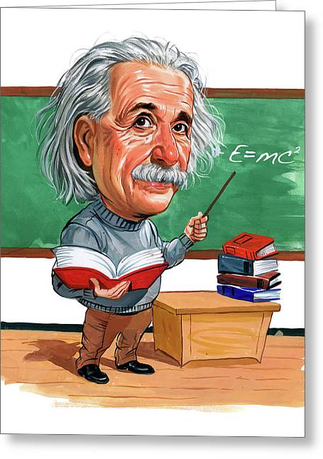 Physicist Greeting Cards - Albert Einstein Greeting Card by Art