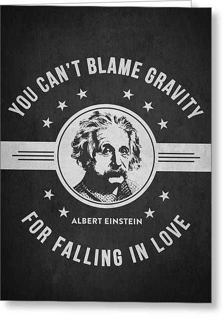 Physicist Greeting Cards - Albert Einstein - Dark Greeting Card by Aged Pixel