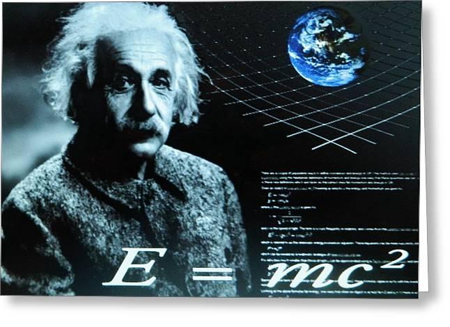Origional Greeting Cards - Albert Einstein Greeting Card by Gunter  Hortz