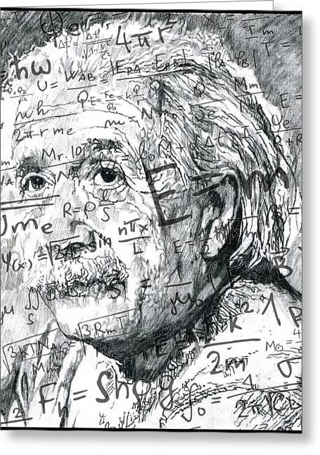 Albert Einstein Greeting Card by Kyle Willis