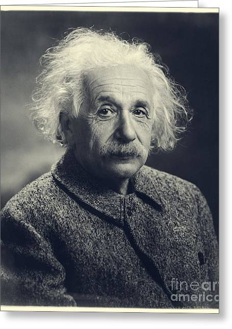 New Jersey Photographs Greeting Cards - Albert Einstein Greeting Card by Orren Jack Turner