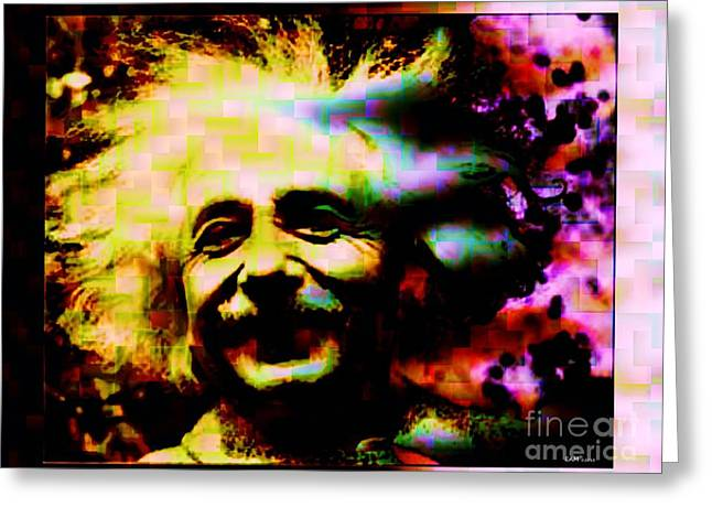 Historical Images Greeting Cards - Albert Einstein - Why Is It That Nobody Understands Me - Yet Everybody Likes Me Greeting Card by Elizabeth McTaggart